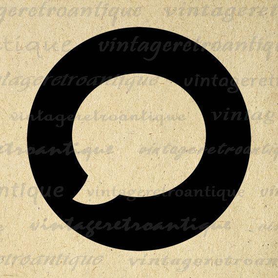 Printable Image Talk Bubble Digital Speech by VintageRetroAntique