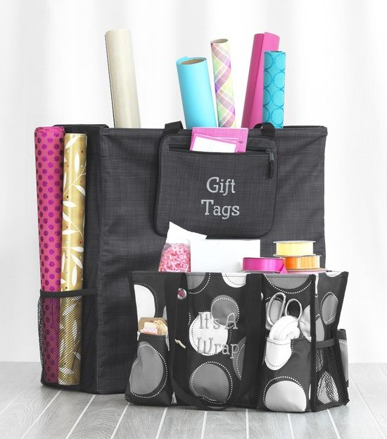 Organize Your Gift Wrap or Wrapping Supplies with the help of Thirty-one!  Www.mythirtyone.com/MichelleCoughlin