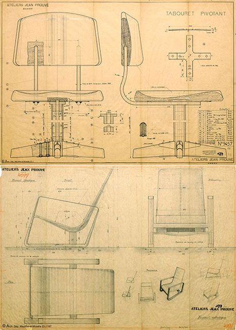 ateliers jean prouv patent drawings pinterest teaching workshop and design. Black Bedroom Furniture Sets. Home Design Ideas