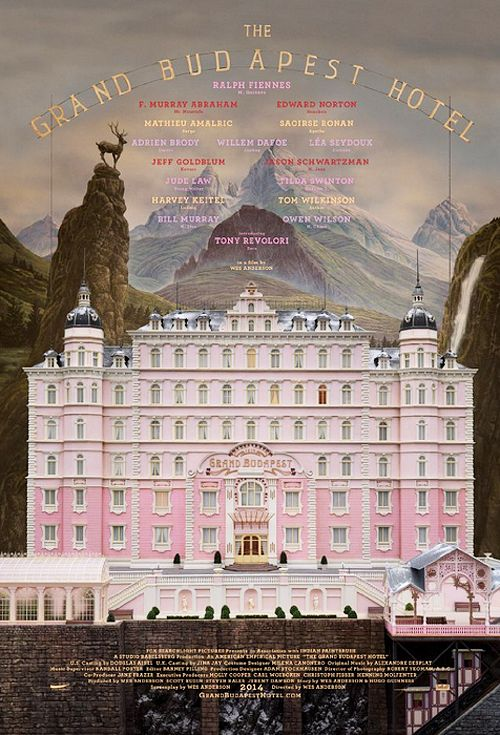 New poster for Wes Anderson's The Grand Budapest Hotel (2014)