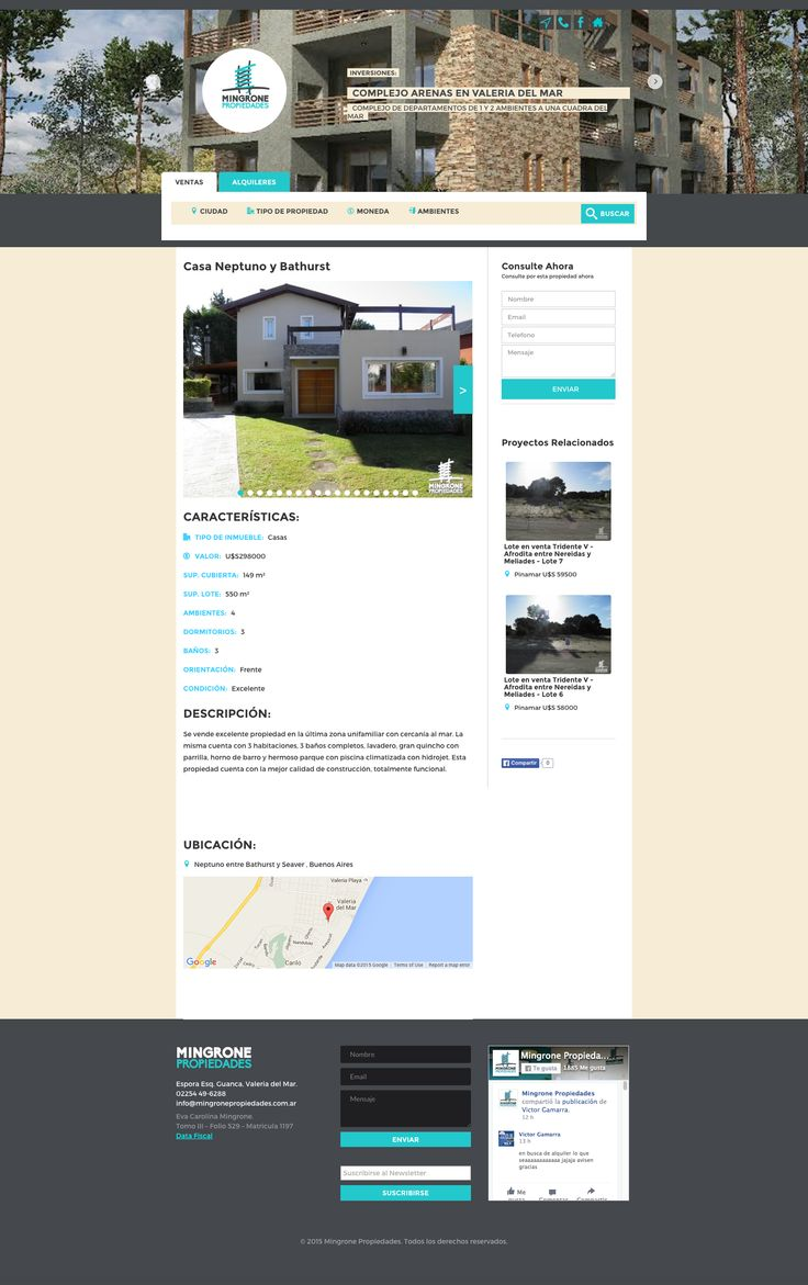 Mingrone Propiedades - Portal Inmobilario en la Costa Atlántica. Alquiler de casas temporales. Venta de propiedades. Oportunidades !