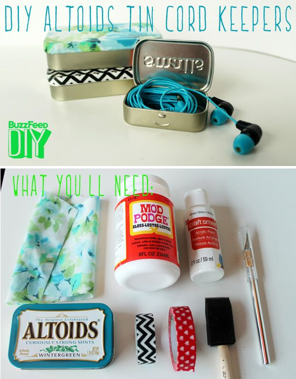 5 Easy And Adorable Ways To Organize Your Cords-oh, this would be great with sampler tea tins!