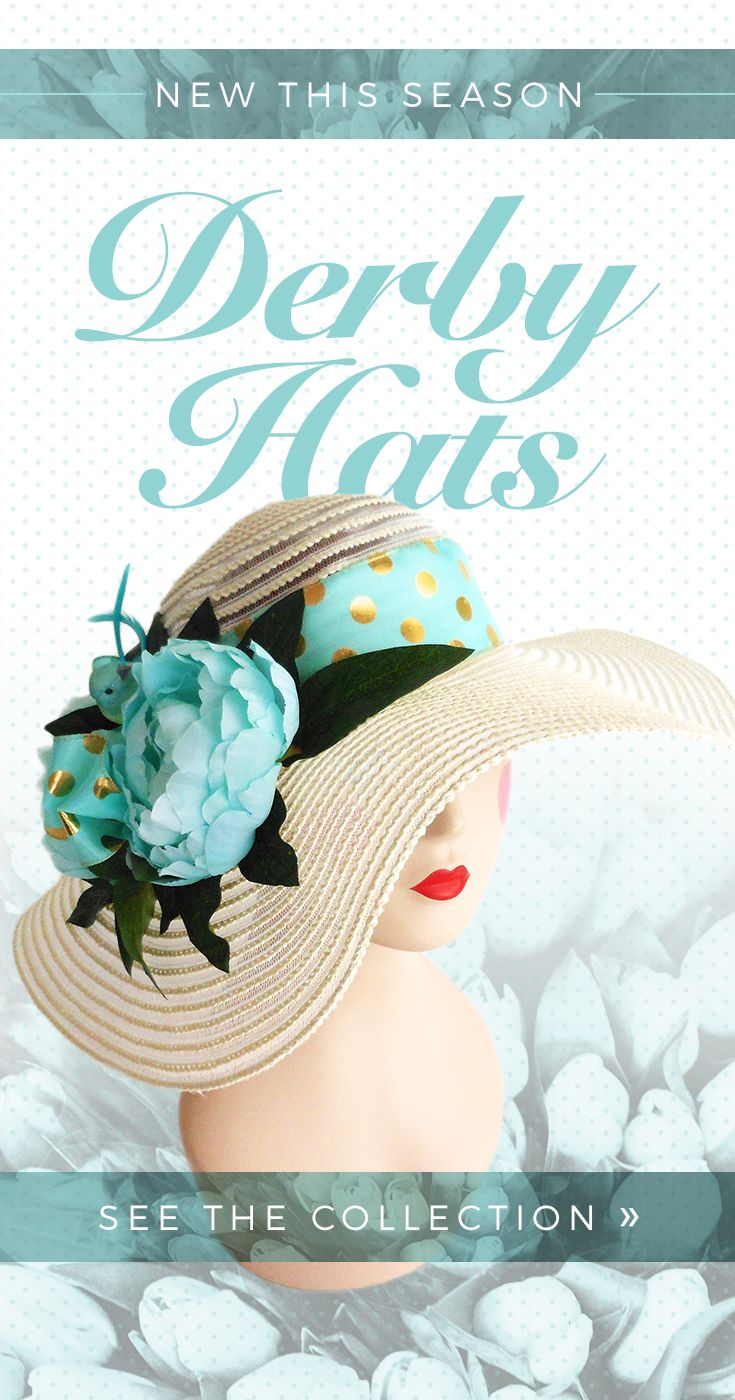See the new derby day hats at hohohats.com!                                                                                                                                                                                 More