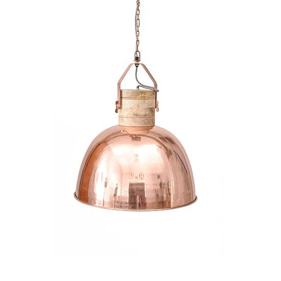 The trend for copper continues. Suspend over a dining table for an effortlessly cool look. Merle pendant by Barker & Stonehouse