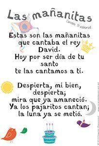 Free Download of Las Mañanitas from Music with Sara. Printable lyrics to sing along. http://www.spanishplayground.net/happy-birthday-song-in-spanish-printable-lyrics/