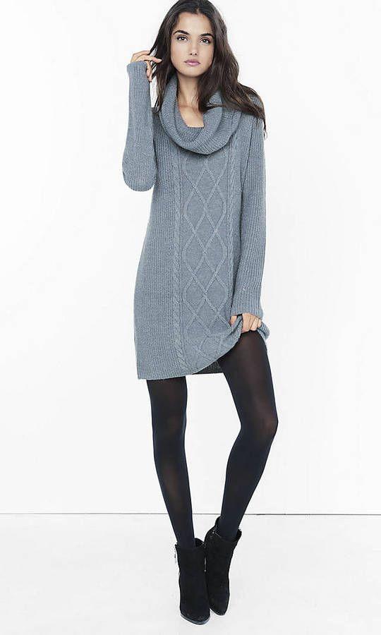 Best 25  Cowl neck sweater dress ideas on Pinterest | Sweater ...