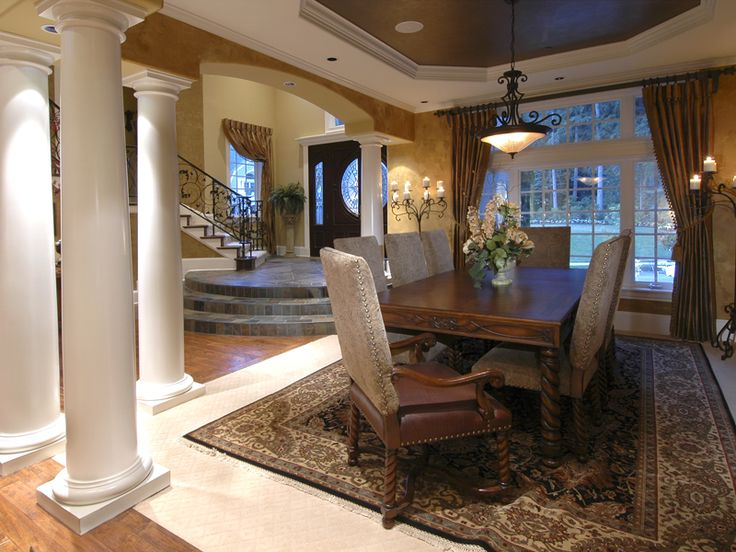 European House Plan Dining Room Photo 01 071S-0051  from houseplansandmore.com