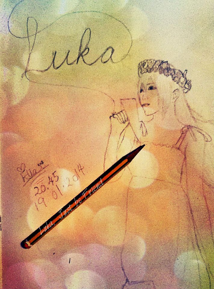 My Luka drawing done it ages, forgot to upload >w