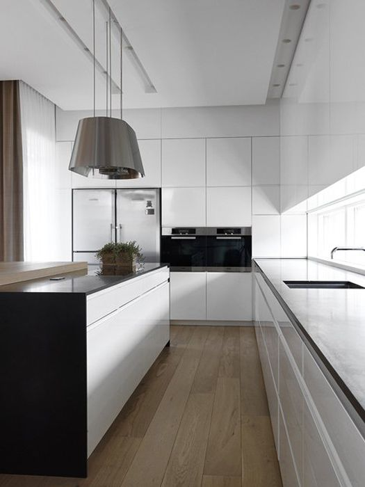 Nice simple white gloss kitchen