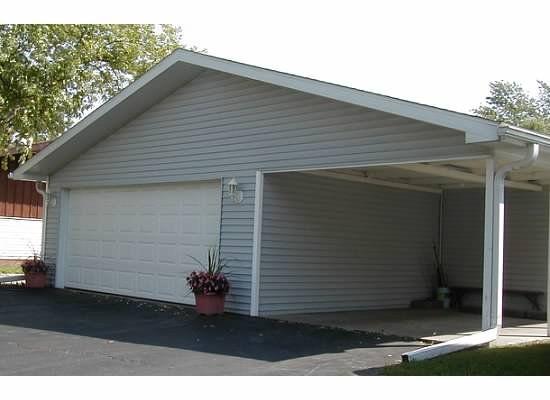 2 car oversize garage with workshop storage plus carport for Victorian carport