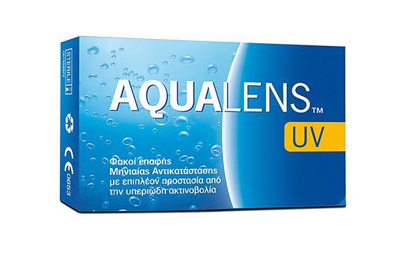 AQUALENS UV 6pack - 17.50€ - Μηνιαίος μαλακός φακός επαφής, υδρογέλης. Προστασία UV.