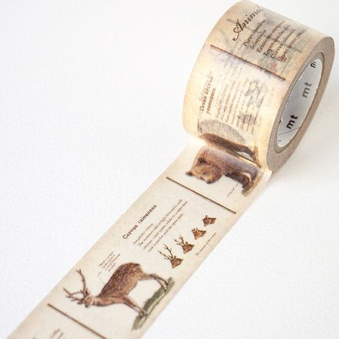 MT ex wide Animal Washi Tape | Fox and Star UK   maybe to wrap around vases/jam jars?