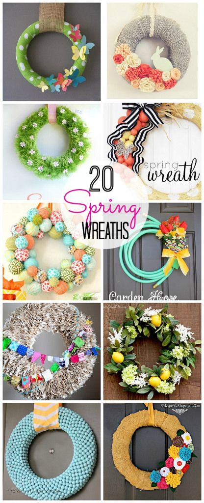 20 Spring Wreaths to Make-- Tatertots and Jello #DIY #Spring #Wreaths