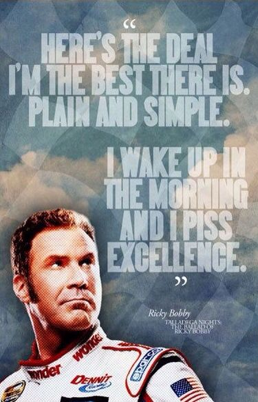 - Ricky Bobby in Talladega Nights: The Ballad of Ricky Bobby (2006) [ManCaveSportsSigns]