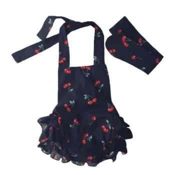 baby ruffle romper with halter top
