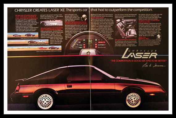 1983 1984 Chrysler Laser Sports Car Ad  80s by 3rdStVintagePaper