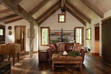 Rustic Warm Interior Paint Color Walls And Ceiling Same Design Ideas, Pictures, Remodel, and Decor - page 4