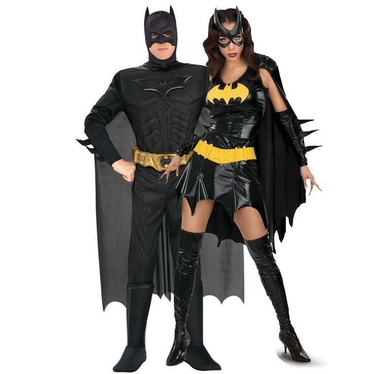 Sexy Batgirl & Batman Couples Costumes ; Me & Johnbel are going