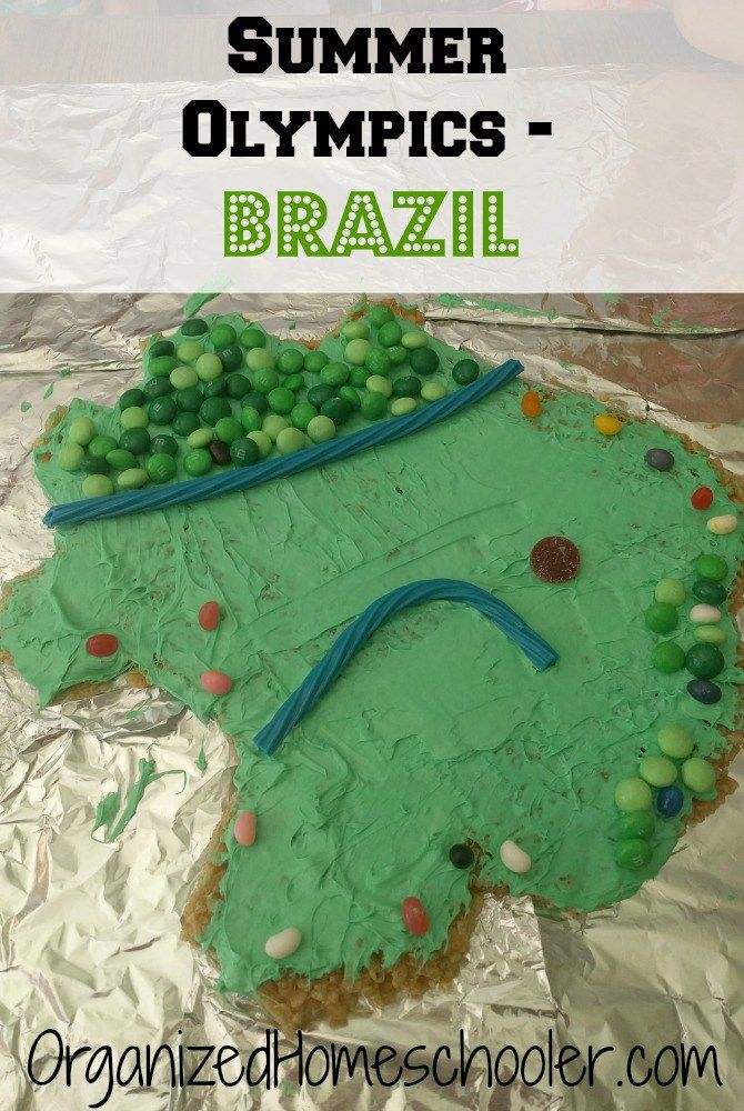 The Olympics are coming to Rio! Get ready with a Brazil unit study! Here are a few ideas to teach a little Brazil geography and do a few Brazil crafts!
