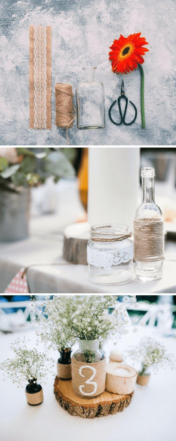 Hochzeitsdeko selber machen – 5 einfache Blumendeko-Ideen für die Hochzeit  – Hochzeitsdeko basteln