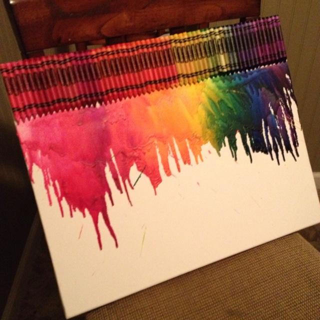 Melted crayon art! : Melted Crayons Art, Feelin Crafty, Feeling Inspiration, Melted Crayon Art, Sharpe Crafty, Kids Crafts, Feeling Crafty, Baby Naptim, Crafty Crafts