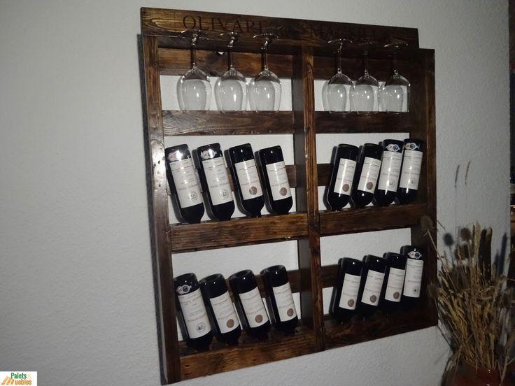 Botellero hecho con palets de madera palets y muebles - Botelleros de obra ...
