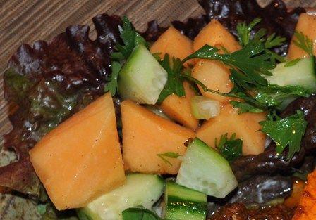 cantaloupe and cucumber salad recipe melon recipes salad recipes ...