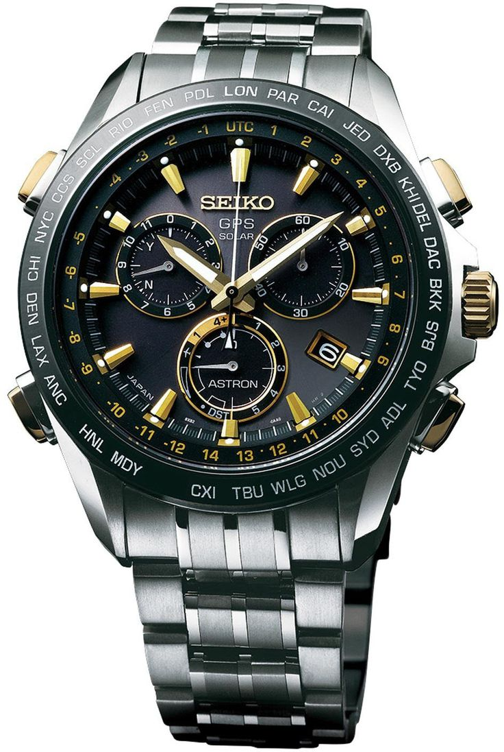 Seiko Astron Watch GPS Solar Chronograph Gold