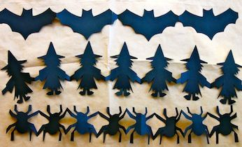 FREE printable Halloween Paper Chain templates and tutorial! | Halloween Crafts | Kids Activities