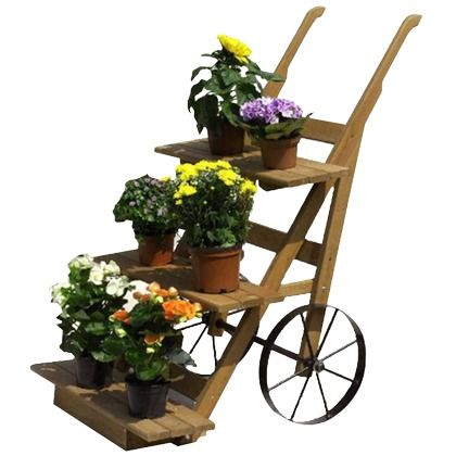Dekorative Blumenkarre 109,99 € <3 Hier kaufen: http://www.stylefruits.de/wohnen/blumenkarre-promex/w3892175 #Deko #Aussenbereich #Garten