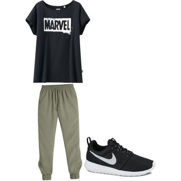Untitled #8 by charl1e231 on Polyvore featuring polyvore, fashion, style, Uniqlo, White House Black Market and NIKE