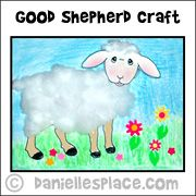 """The Parable of the Lost Sheep"" and ""The Good Shepherd""  Bible Craft from www.daniellesplace.com"