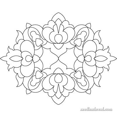 Hungarian Embroidery Design While this is a hungarian pattern, this may be a good motif for aari work.