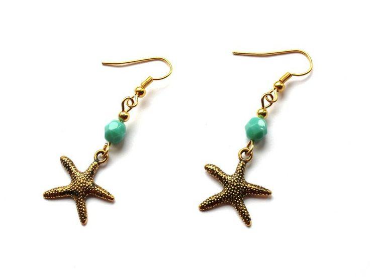 Kolczyki z rozgwiazdami w Especially for You! na http://pl.dawanda.com/shop/slicznieilirycznie  #kolczyki #earrings #crystals #kryształki #handmade #DaWanda