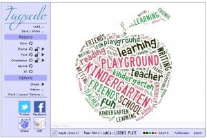 word clouds!  great poetry extension that helps young writers create their own shape poems. Might be cool for end of the year student gift? Fill w adjectives about each student, print, then frame?