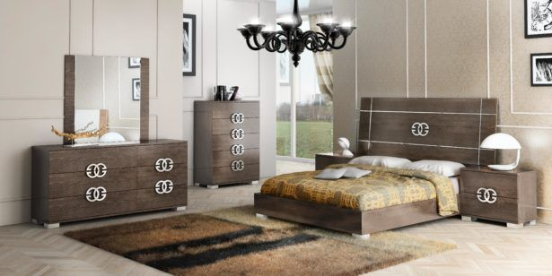 Bedroom Bedroom Ceiling Lamp Design Bedroom With Brown Colour Together With Wooden Bedroom Furniture Frame Wooden Dresser Plus Unique Iron Handle Black Chandelier Plus Brown Area Rug Bedroom Furniture Buying Guideline for You
