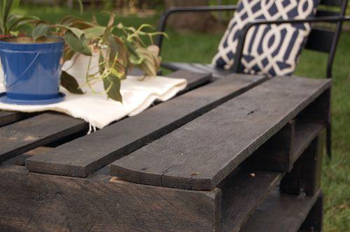 joy ever after :: details that make life loveable :: - Journal - outdoor pallet table diy