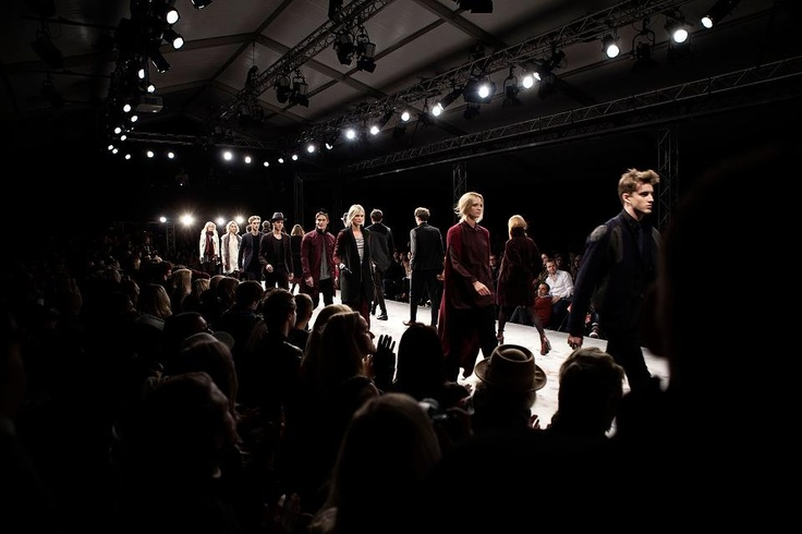 The big finale.   Behind the Scenes of Fashion show AW 2012 – at Mercedes-Benz Fashion Pavilion.