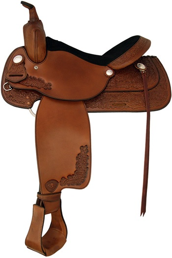 Tex Tan Albany All-Around Saddle this is a VERY cheap saddle, but it is well made for the price. Put some decent Oxbow stirrups on it and your set.