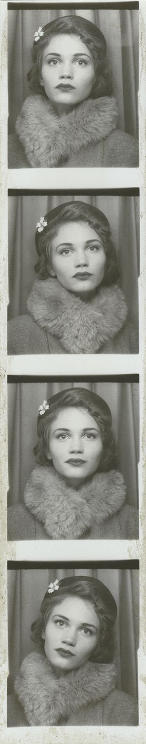 """Kate"", 2013, 1930s inspired, photo booth, hat, hair, photography, vintage style, retro, beauty, fur collar"