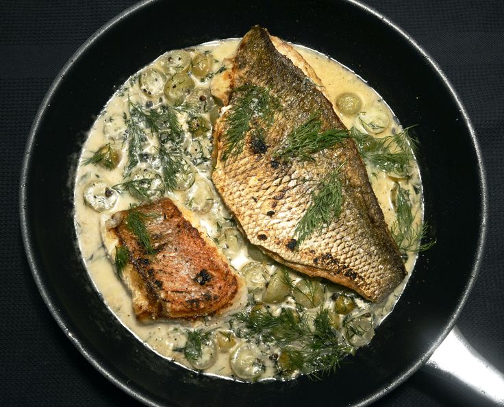 Snapper in Trauben Dill Sauce