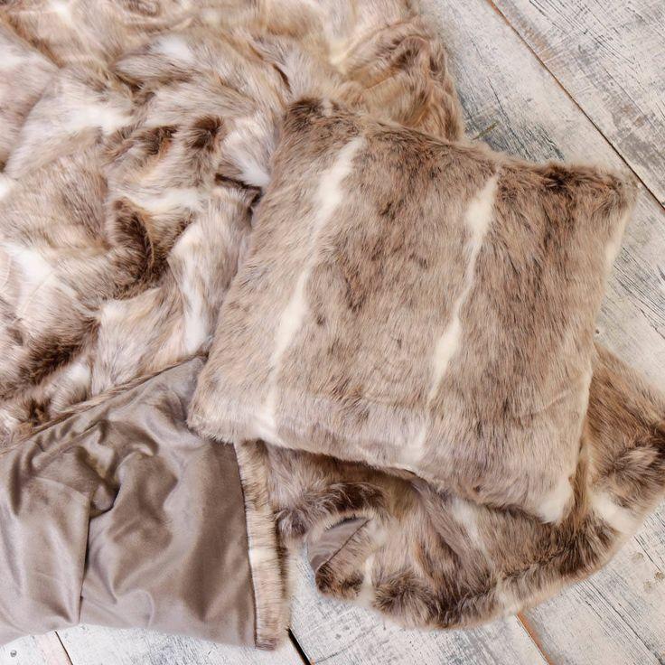 Sale Luxurious Snow Lynx Faux Fur Throw