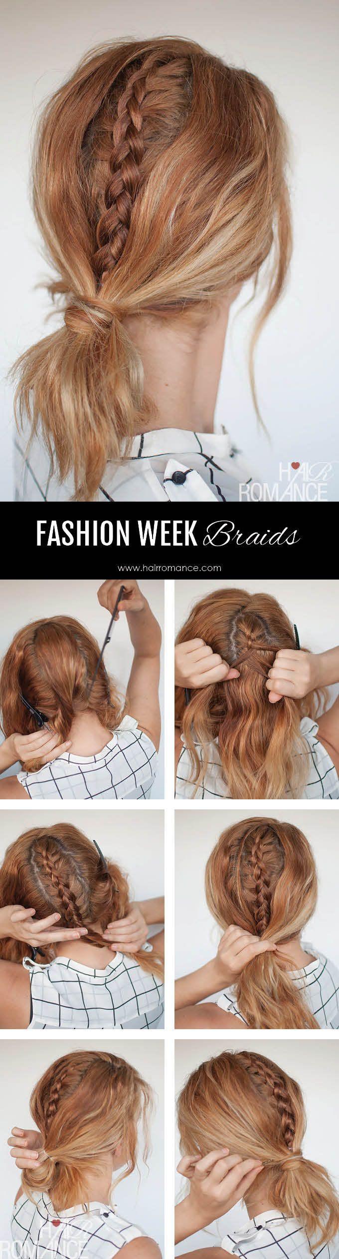 Hair Romance - Fashion Week Braids - hidden braid tutorial