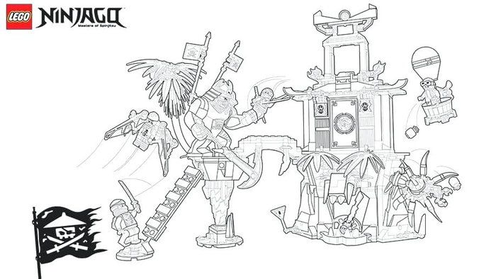 lego ninjago coloring pages free from