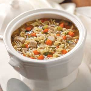 Old-Fashioned Turkey Noodle Soup - Make the most of the leftover turkey