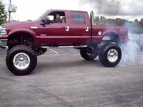 lifted ford f350   Lifted Ford F-350 Superduty Doing a Burnout - YouTube