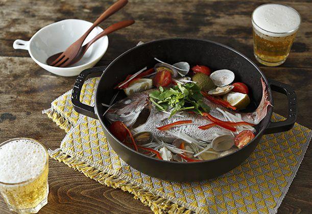 真鯛のカボス蒸しのレシピ・作り方  | 暮らし上手