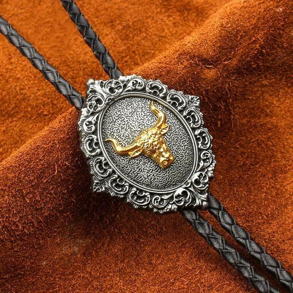 Ruby Scorpion Bola BOLO Tie Necklace Men Women Groomsmen Bridegroom Western Cowboy