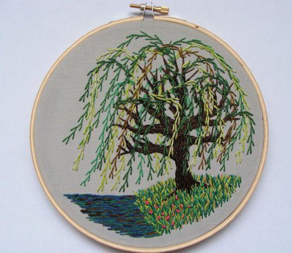 Weeping Willow Tree 3 by OnTheWallByYoko on Etsy