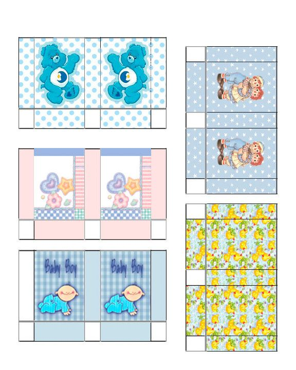 Dollhouse Printable Boxes: Jennifer's Dollhouse Printables Gift Bags Baby